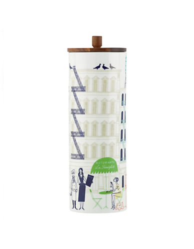 Kate Spade New York About Town Canister Tall-WHITE-One Size