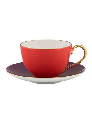 Kate Spade New York Greenwich Grove Cup and Saucer Set-RED-One Size 85986641_RED_One Size
