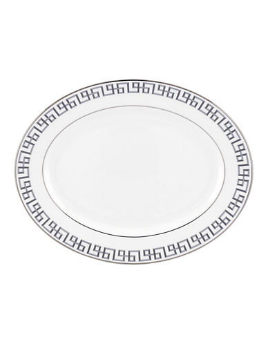Brian Gluckstein By Lenox Darius Silver  Oval Platter-SILVER-One Size