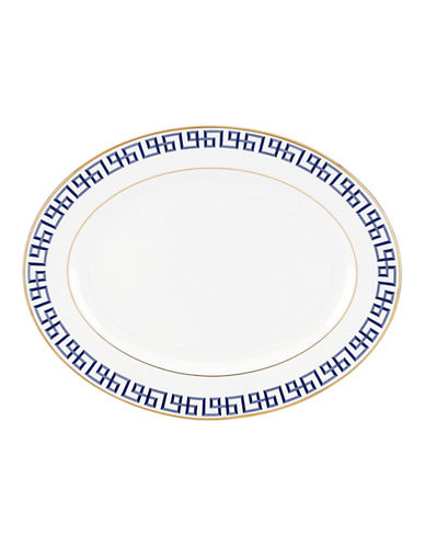 Brian Gluckstein By Lenox Darius Gold Bone China Serving Platter-GOLD-One Size