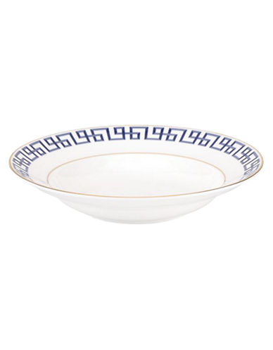 Brian Gluckstein By Lenox Darius Gold Bone China Soup Bowl-BLUE-One Size