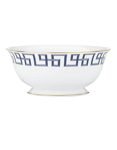 Brian Gluckstein By Lenox Darius Gold 8.5 inch Bone China Serving Bowl-GOLD-One Size