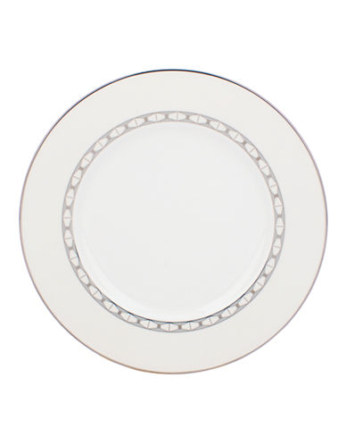 Kate Spade New York Signature Spade Accent Plate-WHITE-One Size