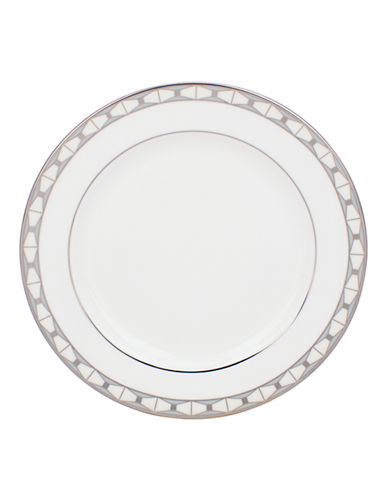 Kate Spade New York Signature Spade Butter Plate-WHITE-One Size