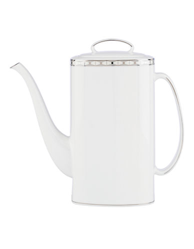 Kate Spade New York Signature Spade Coffee Pot-WHITE-One Size