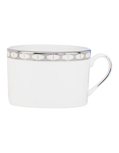 Kate Spade New York Signature Spade Tea Cup-WHITE-One Size