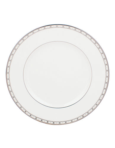 Kate Spade New York Signature Spade Dinner Plate-WHITE-One Size