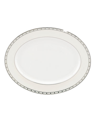 Kate Spade New York Signature Spade Oval Platter-WHITE-One Size