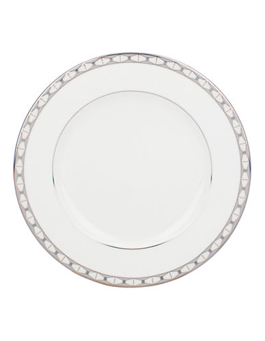 Kate Spade New York Signature Spade Salad Plate-WHITE-One Size