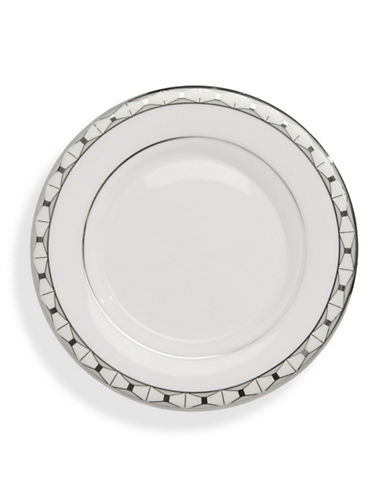 Kate Spade New York Signature Spade Saucer Plate-WHITE-One Size