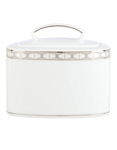 Kate Spade New York Signature Spade Sugar with Lid-WHITE-One Size