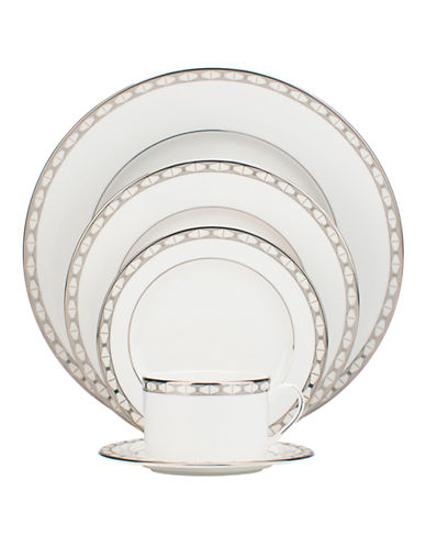 Kate Spade New York Signature Spade Five-Piece Place Setting-WHITE-One Size