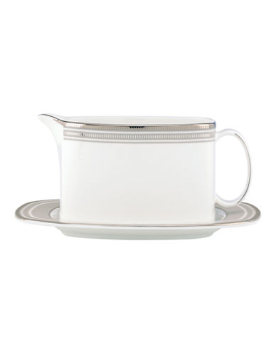 Kate Spade New York Palmetto Bay Gravy Boat with Stand-WHITE-One Size
