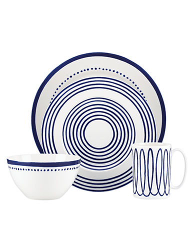 Kate Spade New York Charlotte Street West 4 Piece Place Setting-BLUE-One Size