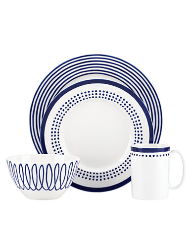 Kate Spade New York Charlotte Street East 4 Piece Place Setting-BLUE-One Size