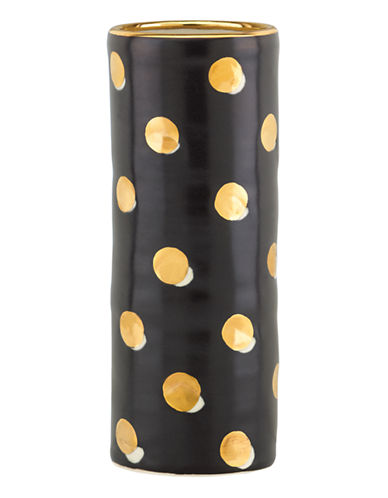 Kate Spade New York Sunset  Street Cylinder Vase-BLACK-Medium