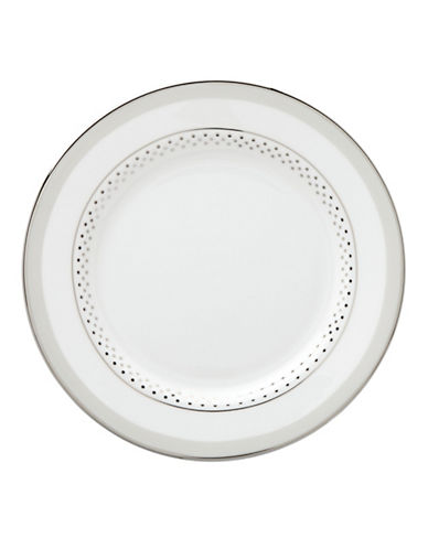 Kate Spade New York Whitaker Street Butter Plate-WHITE-One Size