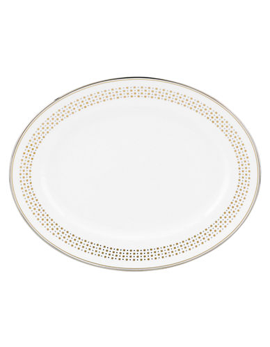 Kate Spade New York Richmont Road Oval Platter-WHITE/GOLD-One Size