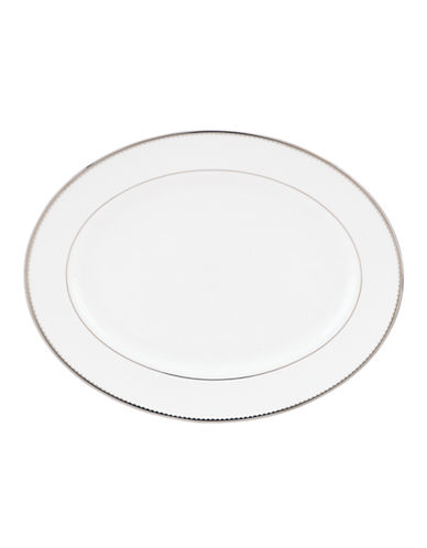 Kate Spade New York Sugar Pointe Oval Platter-WHITE-One Size