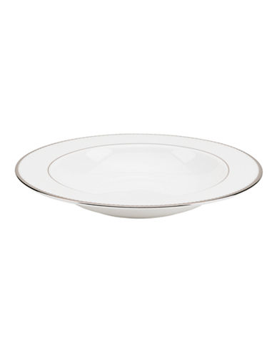 Kate Spade New York Sugar Pointe Pasta Rim Soup Bowl-WHITE-One Size