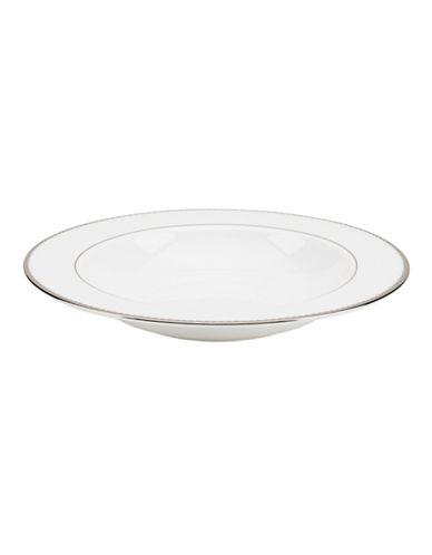 Kate Spade New York Sugar Pointe Pasta Rim Soup Bowl-WHITE-One Size