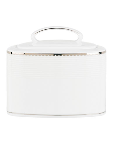 Kate Spade New York Sugar Pointe Sugar Bowl-WHITE-One Size