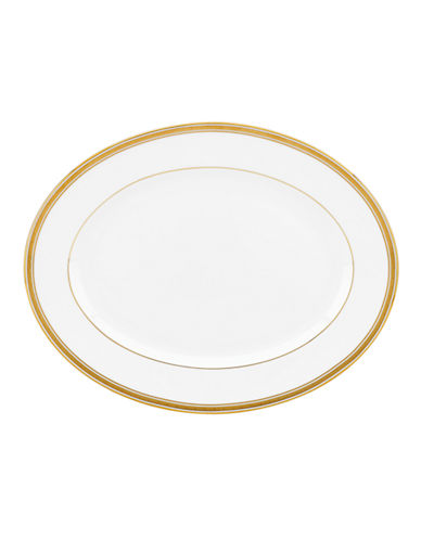 Kate Spade New York Oxford Place Oval Platter-WHITE-One Size