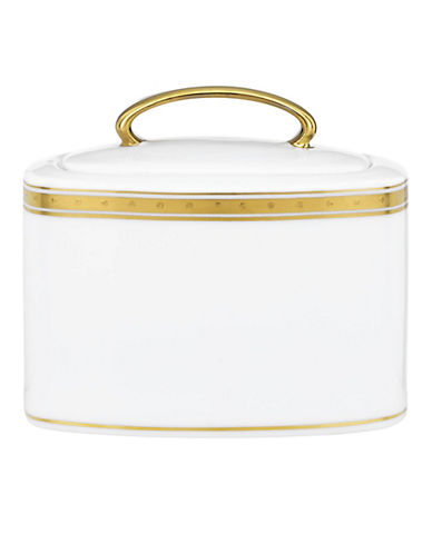Kate Spade New York Oxford Place Sugar Bowl with Lid-WHITE-One Size