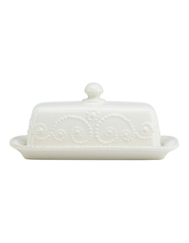 Lenox French Perle Covered Butter-WHITE-7.25 Inches