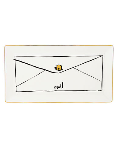 Kate Spade New York Daisy Place Snail Mail Tray-IVORY-One Size
