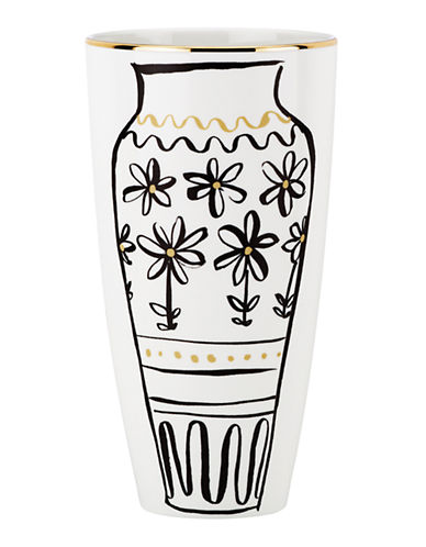 Kate Spade New York Daisy Place Chinoiserie Vase-IVORY-One Size