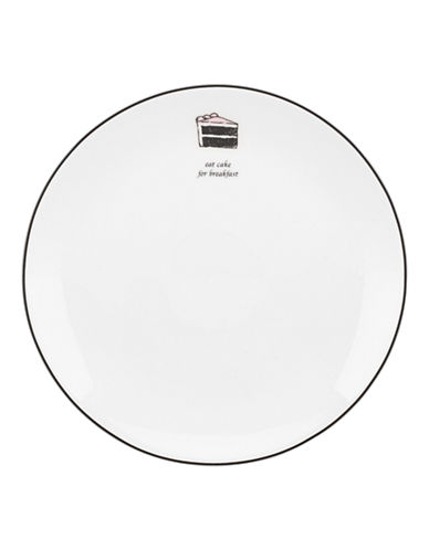 Kate Spade New York Cause A Stir Accent Plate-WHITE-One Size