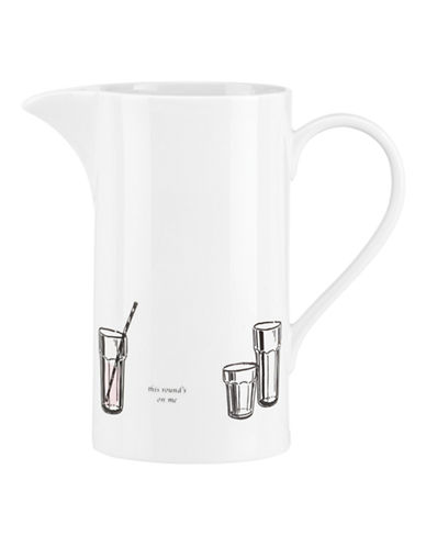 Kate Spade New York Cause A Stir Pitcher-WHITE-One Size