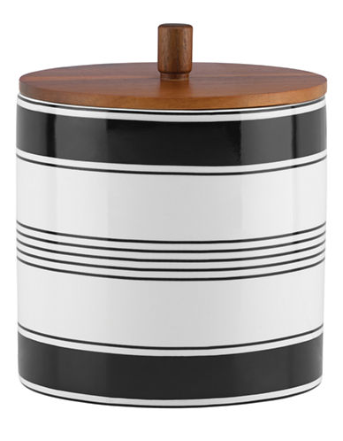 Kate Spade New York Concord Square Large Canister-WHITE-One Size