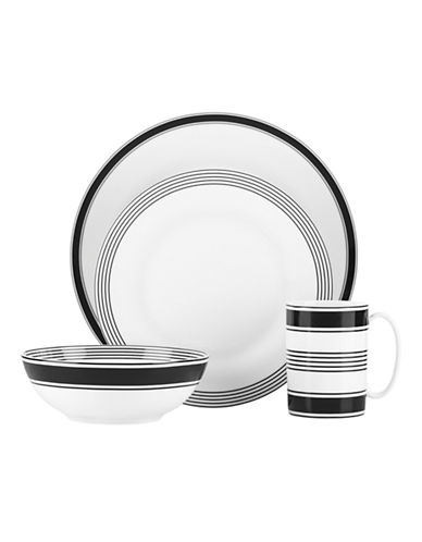 Kate Spade New York Concord Square Four Piece Place Setting-WHITE-One Size
