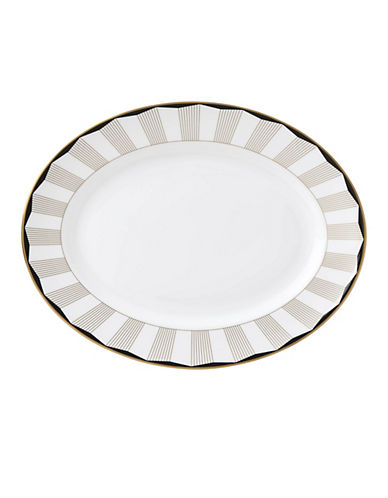 Brian Gluckstein By Lenox Audrey Oval Platter-WHITE-One Size