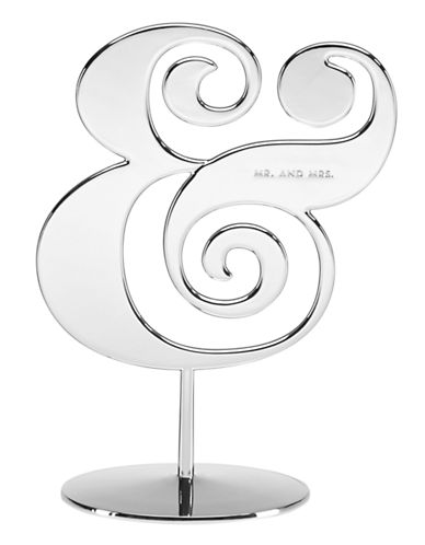Kate Spade New York Darling Point Cake Topper-SILVER-One Size
