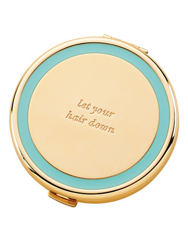 Kate Spade New York Holly Drive Compact Let your Hair Down-TURQUOISE-One Size