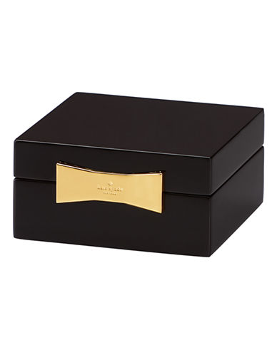 Kate Spade New York Garden Drive Square Jewelry Box-BLACK-One Size