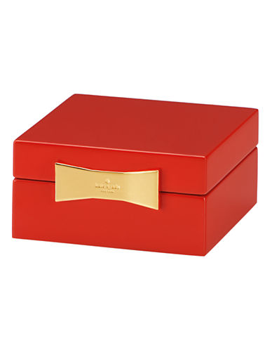 Kate Spade New York Garden Drive Square Jewelry Box-RED-One Size