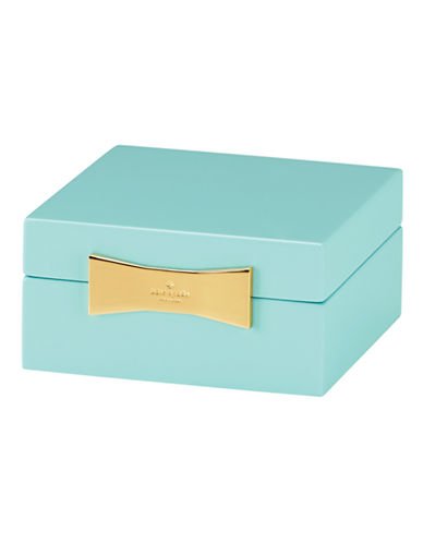 Kate Spade New York Garden Drive Square Jewelry Box-TURQUOISE-One Size