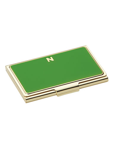 Kate Spade New York One In A Million Initial Business Cardholder N-GREEN-One Size