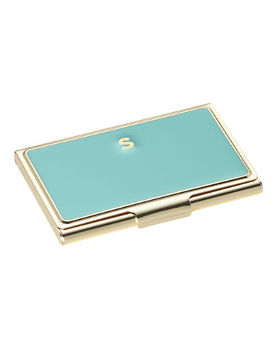 Kate Spade New York One In A Million Initial Business Cardholder S-TURQUOISE-One Size
