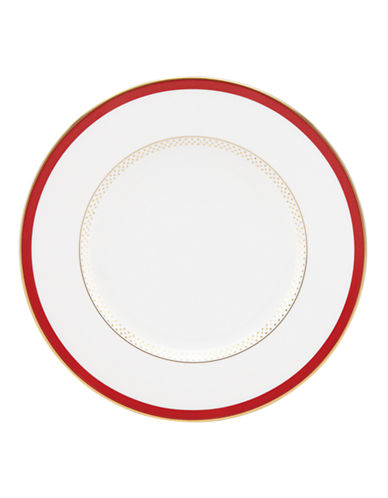 Kate Spade New York Jemma Street Accent Plate-WHITE-One Size