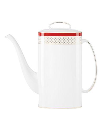 Kate Spade New York Jemma Street Coffee Pot-WHITE-One Size