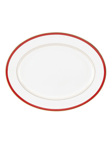 Kate Spade New York Jemma Street Oval Platter-WHITE-One Size