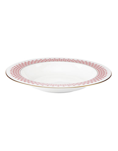 Kate Spade New York Jenna Street Rimmed Pasta and Soup Bowl-WHITE-One Size