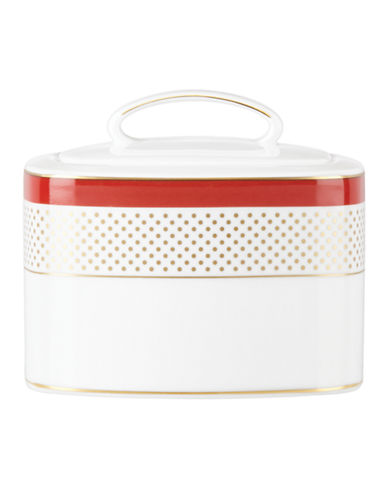 Kate Spade New York Jemma Street Sugar Bowl-WHITE-One Size