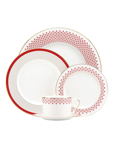 Kate Spade New York Five-Piece Jemma Street Place Setting-WHITE-One Size