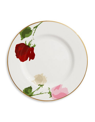 Kate Spade New York Rose Park Salad Plate-WHITE-One Size